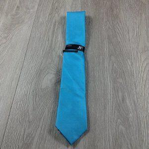 JF J. Ferrar Enamel Blue w Clip Narrow Tie